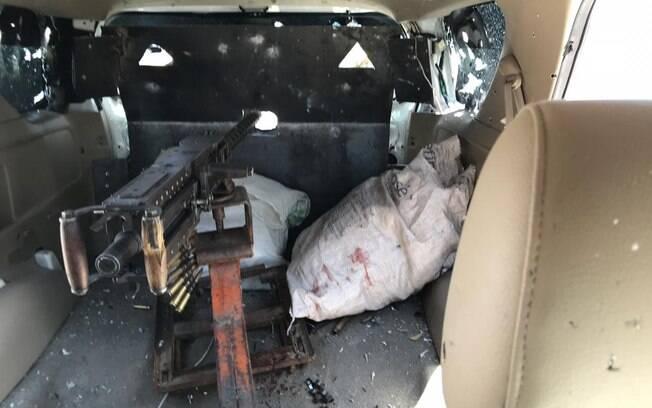 Criminosos estavam em posse de metralhadora calibre .50 – que foi apreendida pela Polícia Federal
