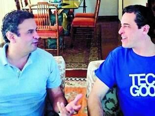 Reforço. Aécio anunciou  Rodrigo Baggio como coordenador de tecnologia do programa de governo