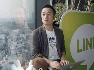 Naotomo Watanabe, um dos designers da Line