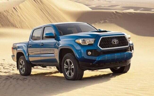 A Toyota Tacoma concorre com os modelos americanos e se mantém como um dos modelos mais procurados nos EUA