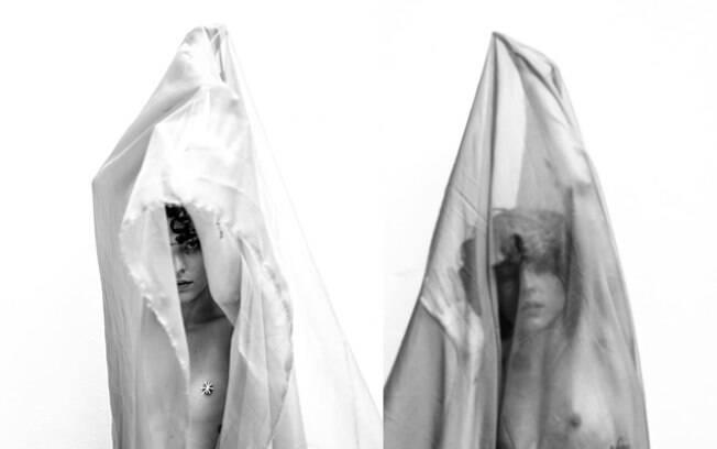 Julia Konrad dispensa o sutiã e posa com os seios de fora no Instagram