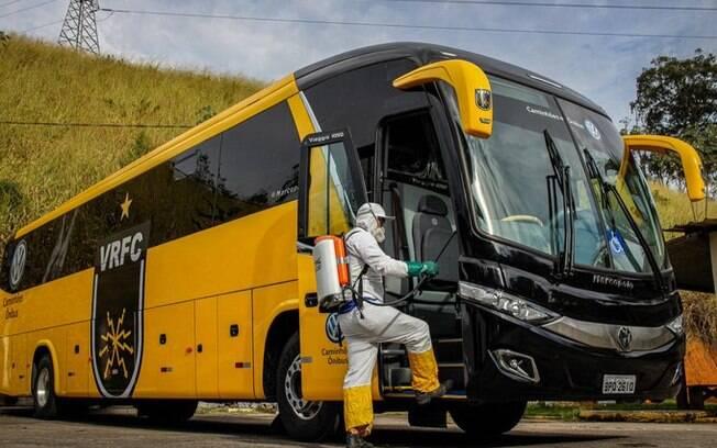 Ônibus do Volta Redonda passou por sanitização