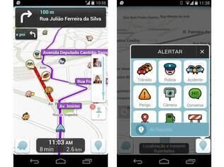 Aplicativo gratuito para Android, iOS e Windows Phone, o Waze é um dos maiores aplicativos de trânsito e navegação do mundo baseado em uma comunidade