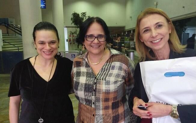 Damares Alves participou de um evento em Suzano (SP)