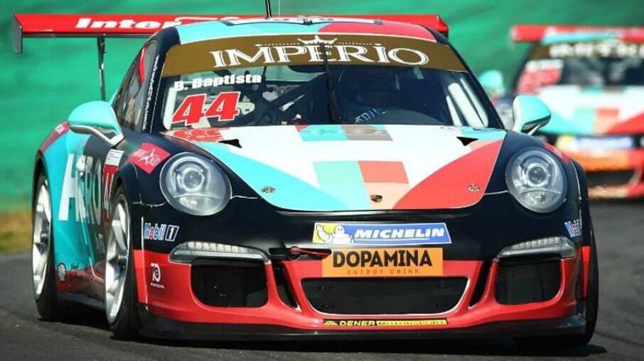 Porsche 911 GT3 de corrida foi um dos modelos de turismo mais velozes que Bruno Baptista pilotou até agora