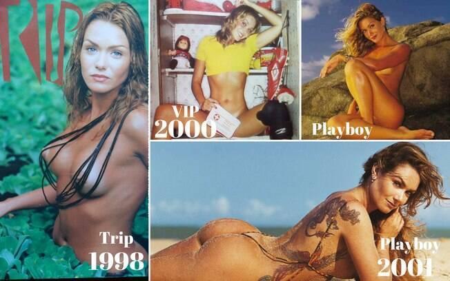 Luize Altenhofen em ensaios de revistas masculinas