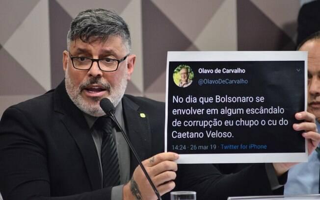 Deputado Alexandre Frota (PSDB-SP) durante seu depoimento na CPMI das Fake News