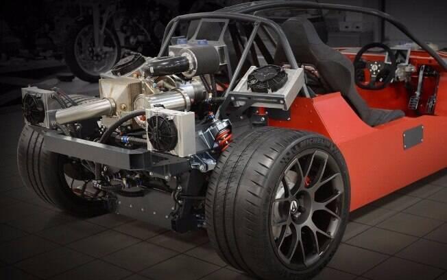 Os motores do Ariel Hipercar precisam de um sofisticado sistema de refrigeração para não correrem risco de ter falhas