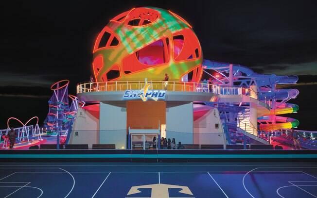 O Skypad é a grande novidade dos cruzeiros da Royal Caribbean, uma atração que faz uso da tecnologia