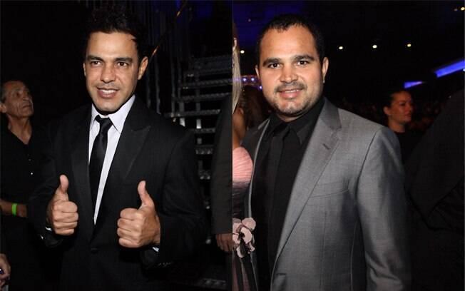 Zezé Di Camargo e Luciano no show de Roberto Carlos, em SP