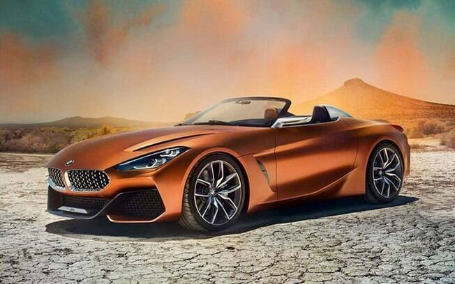 Versão conceitual do BMW Z4 tem apenas pequenos detalhes diferentes na comparação com a versão de produção