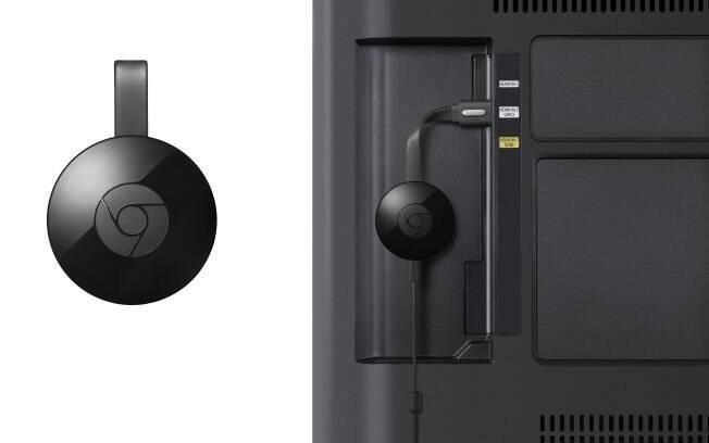 Segunda geração do Google Chromecast é  tem um visual bem diferente do modelo anterior