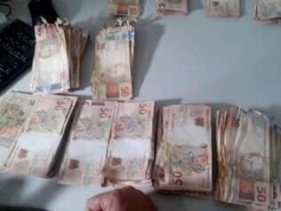 Parte do dinheiro recuperado ficou parcialmente destruído pela explosão