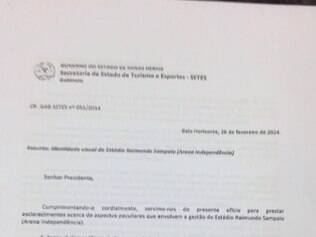 Documento do América referente ao Independência
