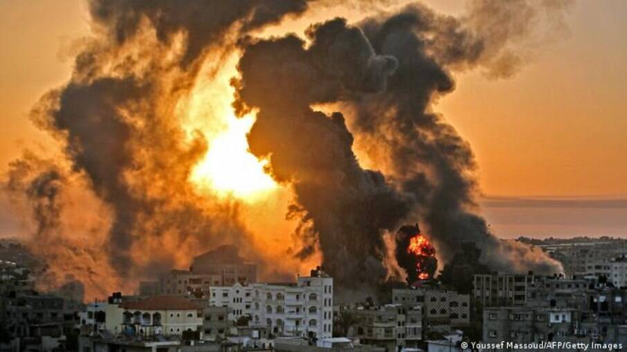 Bombardeio israelense na Faixa de Gaza
