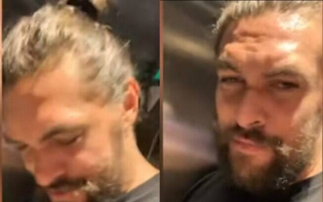 Jason Momoa no elevador