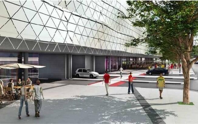 Área ao redor do estádio terá arquitetura  moderna