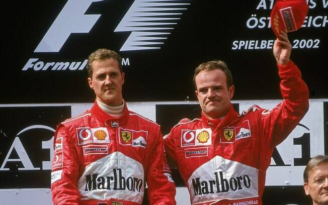 Rubens Barrichello e Michael Schumacher