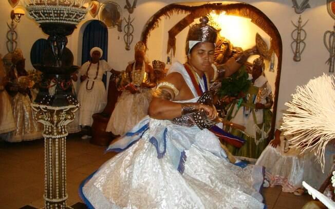Ogum incorporado em terreiro de candomblé de Salvador