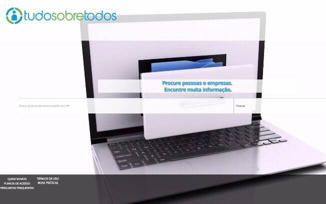 Site Tudo Sobre Todos permite que usuários façam buscas de dados de pessoas e de empresas