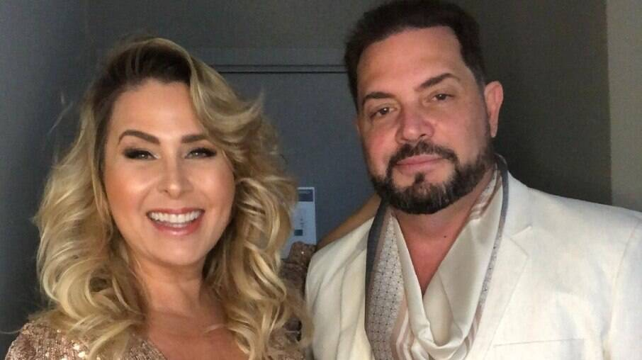 Andréa Sorvetão e seu marido, Conrado