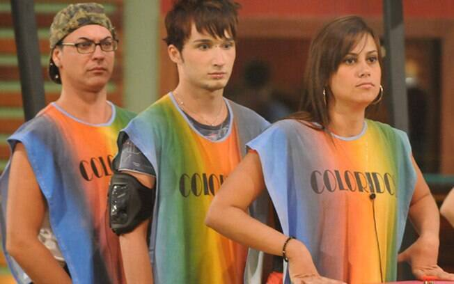 Dicésar, Serginho e Angélica Morango: o trio de coloridos do BBB10