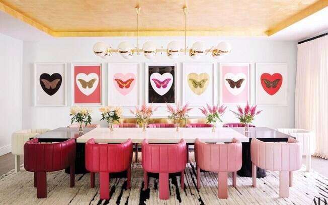 Kylie Jenner mostra detalhes de sua mansão. Ter ambientes com a cor rosa em destaque foi uma das suas exigências