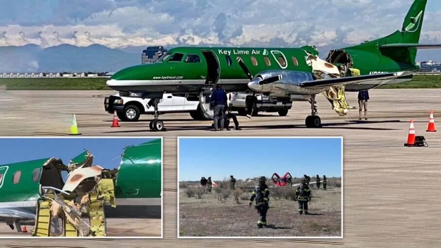 Piloto conseguiu fazer pouso em segurança no Aeroporto de Denver mesmo sem pedaço da aeronave