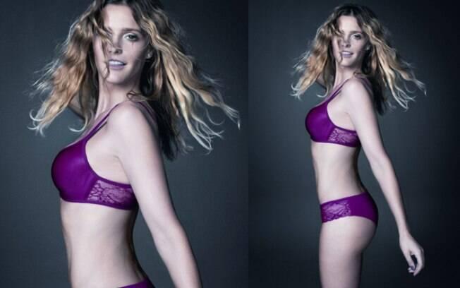 Fernanda Lima posa de lingerie para campanha