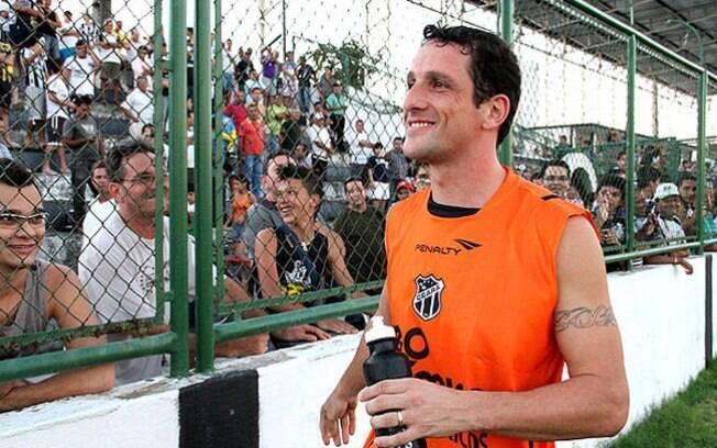 Em 2011, Belletti acertou com o Ceará, mas se machucou antes da estreia e decidiu encerrar a carreira. Foto: LC MOREIRA - DIVULGAÇÃO