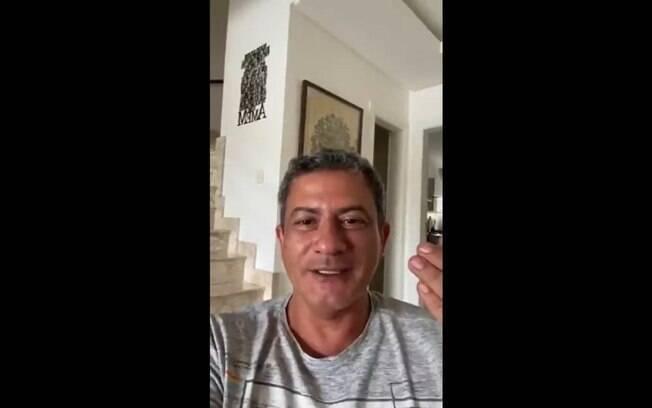 Tom Veiga, o intérprete do Louro José, em vídeo gravado um dia antes de sua morte