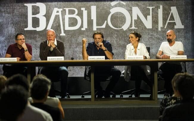 Ricardo, Gilberto Braga, Dennis Carvalho, Maria de Médicis e João Ximenes Braga