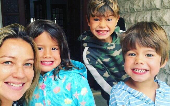 Luana Piovani e os filhos
