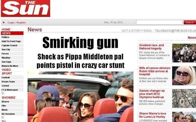 Amigo de Pippa Middleton apontou a arma em direção ao paparazzo