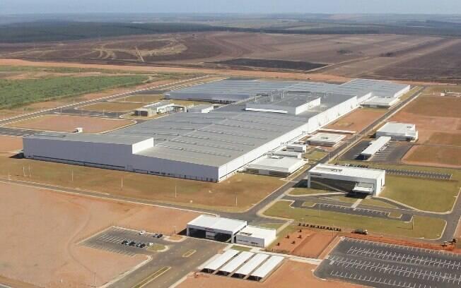 Eis uma visão aérea da nova fábrica da Honda, em Itirapina (SP), de onde sairão todos os carros em 2021