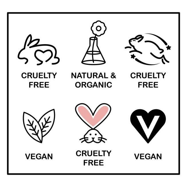selos de cosméticos veganos
