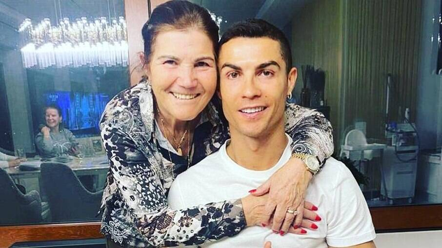 Cristiano e a mãe