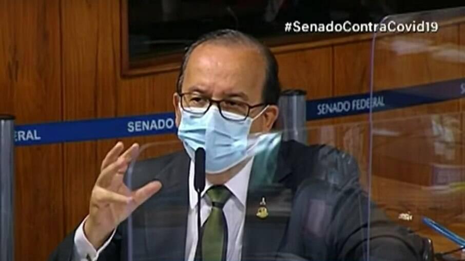 Senador Jorginho Mello (PL-SC) na CPI nesta terça-feira (22)
