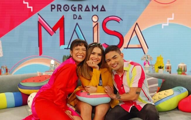 Maisa recebe Priscilla Alcântara e Yudi Tamashiro no seu programa