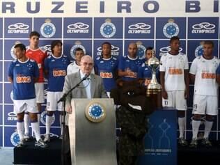 ESPORTES - Apresentacao do novo uniforme da equipe do Cruzeiro. Toca 2. FOTO: Fernanda Carvalho/O TEMPO. 7/2/2014.
