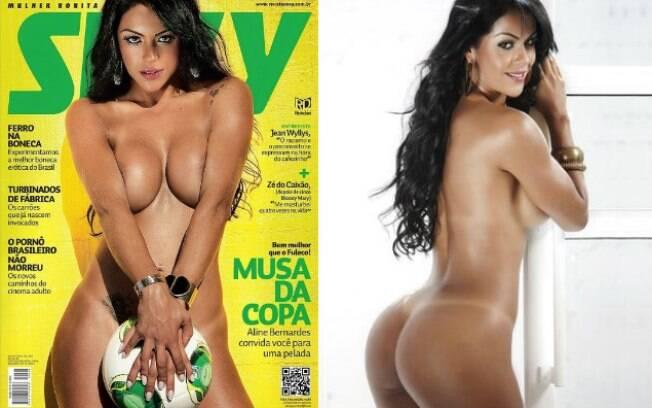 Já a Sexy contou com Aline Bernardes, Musa da Copa das Confederações, em sua edição de julho