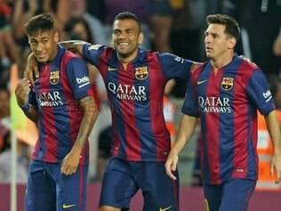 Neymar atuou com desenvoltura, demonstrando que se recuperou totalmente da lesão sofrida na Copa