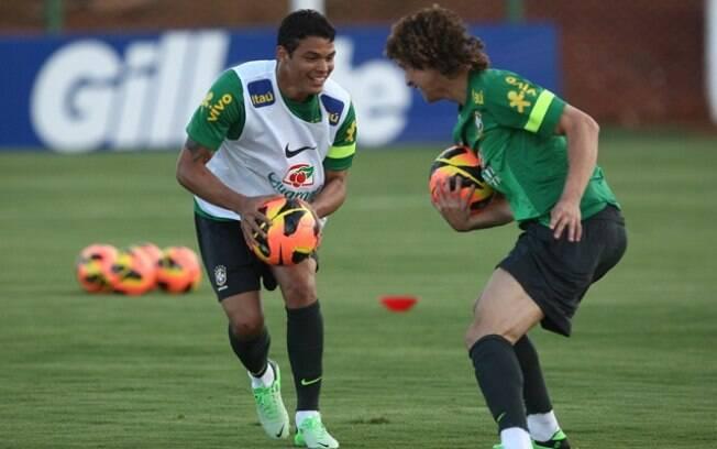 Thiago Silva e David Luiz, na seleção brasileira