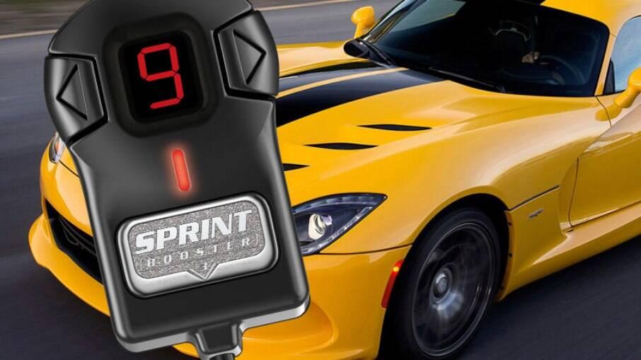 Instalado no pedal do acelerador eletrônico dos carros mais modernos, o Sprint Booster V.3 reduz o atraso na resposta
