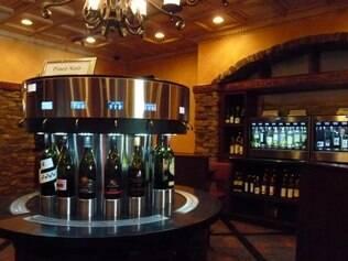 Em Winter Park, já existem máquinas que servem pequenas doses de vinhos variados