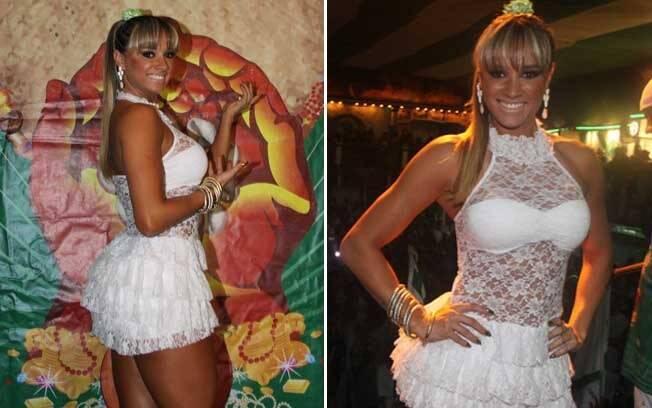 Juju Panicat comemorou o aniversário da escola de samba palmeirense