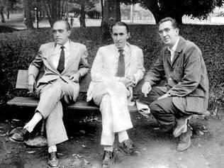 Niemeyer, Joaquim Cardoso e Paulo Werneck na Pampulha, em 1944