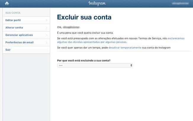 Exclusão definitiva do Instagram remove todas as informações que a rede social tem sobre você