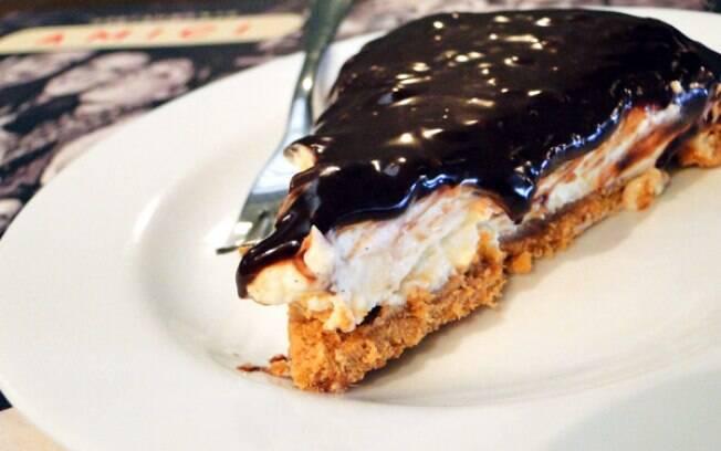 Fatia de cheesecake de Nutella