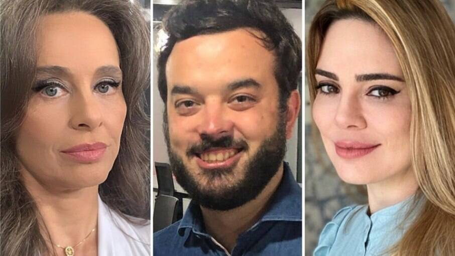 Carla Vilhena, Pedro Duran e Rachel Sheherazade
